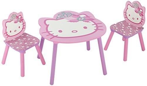 Delta TT 89449 Hello Kitty Tisch 60 x 60 cm plus 2 Stühle, MDF ...