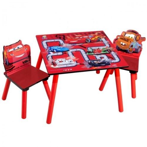 Disney-Cars-Tisch-mit-2-Sthlen-60x60cm-Holz-Kindersitzgruppe-Kindersitzgarnitur-NEU-0