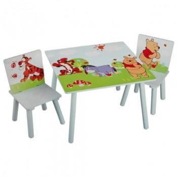 Disney-Winnie-Pooh-Tisch-mit-Sthlen-60x60cm-Holz-Kindersitzgruppe-Kindersitzgarnitur-NEU-0