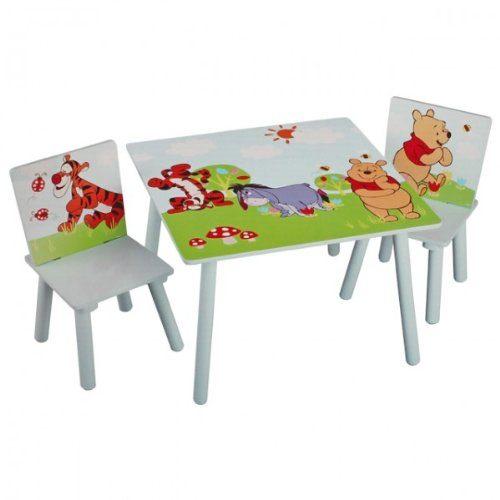 disney winnie pooh tisch mit st hlen 60x60cm holz kindersitzgruppe kindersitzgarnitur neu online. Black Bedroom Furniture Sets. Home Design Ideas