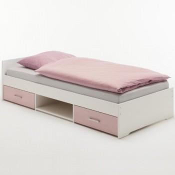 Einzelbett-KAI-Kiefer-massiv-wei-rosa-lackiert-0