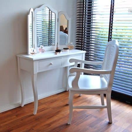 lounge zone kosmetiktisch frisiertisch schminktisch madrid wei 3 gro e spiegel 2 schubladen. Black Bedroom Furniture Sets. Home Design Ideas