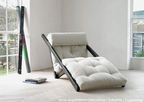 Futon Gestell futon lounge sessel weiß natur gestell 4 fach positionierbar maße