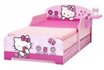 Hello-Kitty-499HLK-Kinderbett-mit-Aufbewahrung-und-Nachtisch-0