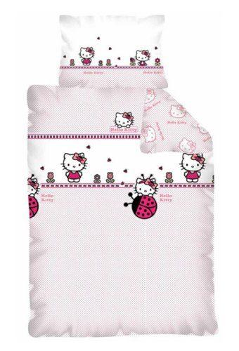 Hello Kitty Bettwäsche 100x135 Cm Kissen 40x60 Cm Neu 100