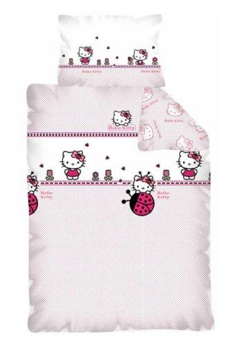 hello kitty bettw sche 100x135 cm kissen 40x60 cm neu 100 baumwolle online kaufen bei woonio. Black Bedroom Furniture Sets. Home Design Ideas