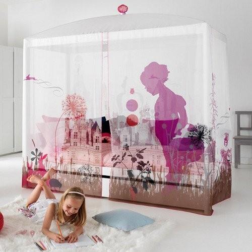 himmelbett wunderland wei umbaubar zum einzelbett. Black Bedroom Furniture Sets. Home Design Ideas