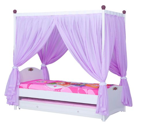 himmelbett wei oder rosa ohne g stebett inkl rost kinderbett bett kind online kaufen bei woonio. Black Bedroom Furniture Sets. Home Design Ideas
