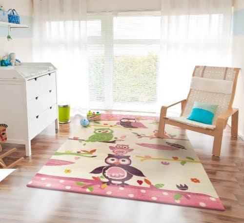 hochwertiger kinderteppich eule 80x150cm online kaufen bei. Black Bedroom Furniture Sets. Home Design Ideas