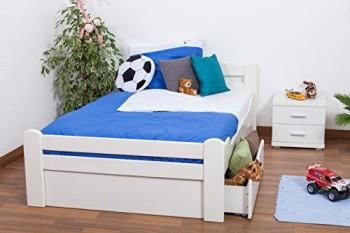 Jugendbett-Easy-Sleep-K4-inkl-2-Schubladen-und-1-Abdeckblende-120-x-200-cm-Buche-Vollholz-massiv-wei-lackiert-0