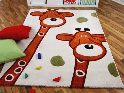 kinder spiel teppich paradiso giraffen in 135x190 cm. Black Bedroom Furniture Sets. Home Design Ideas