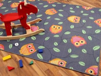 Kinder-Spielteppich-Eule-Grau-Anthrazit-Orange-in-24-Gren-0