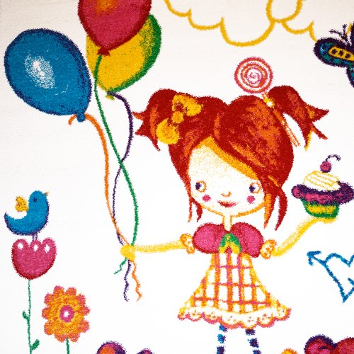 Teppich Schmetterling Rosa ~ Kinder teppich nobelle ballon schmetterling creme rosa