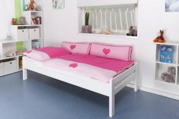 Kinderbett-Jugendbett-Easy-Sleep-K11n-Buche-Vollholz-massiv-wei-lackiert-Mae-90-x-190-cm-0