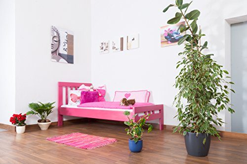 Kinderbett-Jugendbett-Easy-Sleep-K8-90-x-200-cm-Buche-Vollholz-massiv-rosa-lackiert-0