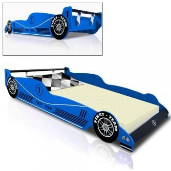 Kinderbett-Rennbett-BLAU-F1-Formel-1-Autobett-Bett-Rennwagen-0