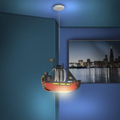 led pendelleuchte piratenschiff 4 5 watt kinderleuchte. Black Bedroom Furniture Sets. Home Design Ideas