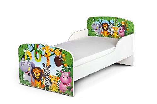 leomark kinderbett 140x70 funktionsbett einzelbett mit. Black Bedroom Furniture Sets. Home Design Ideas