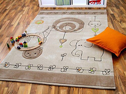 lifestyle kinderteppich babywelt beige braun in 3 gr en sofort lieferbar online kaufen. Black Bedroom Furniture Sets. Home Design Ideas