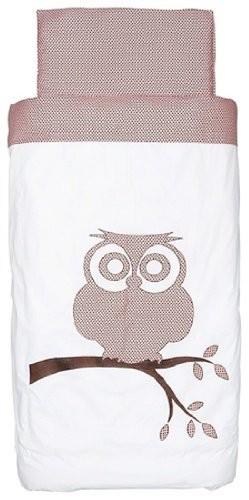 Little-Naturals-006-524-64816-Bezug-und-Kissenberzug-120-X-150-cm-Organic-Owl-rosabraun-0