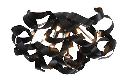 lucide atoma deckenleuchte durchmesser 50 cm 6xg9 40 w schwarz 13109 26 30 online kaufen. Black Bedroom Furniture Sets. Home Design Ideas