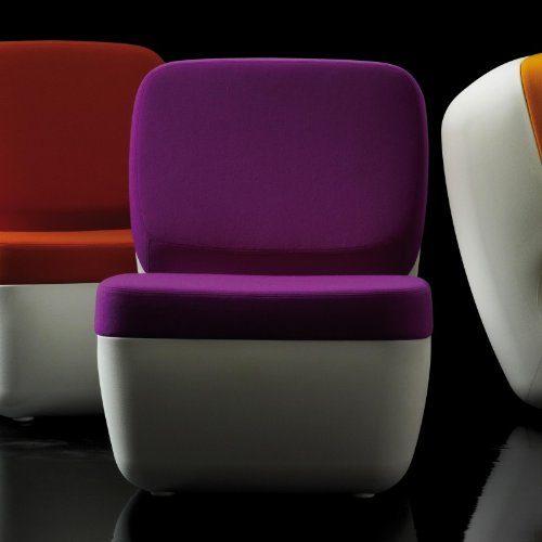 Magis-Nimrod-Sessel-weiss-lila-Polyethylen-Bezug-Stoff-0