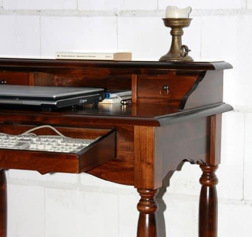 massivholz italienischer sekret r schreibtisch holz massiv kolonial online kaufen bei woonio. Black Bedroom Furniture Sets. Home Design Ideas