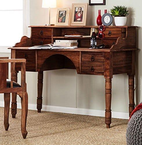 sam stilvoller sekret r bombay 6040 sheesham palisander in walnuss dunkel 135 x 103 cm ge lte. Black Bedroom Furniture Sets. Home Design Ideas