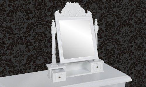 Vanity makeup table with swing mirror mdf online kaufen - Schminktisch braun ...