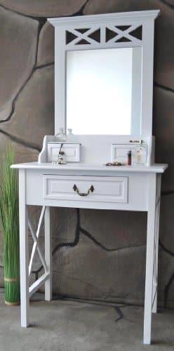 schminktisch frisiertisch schminkkommode sekret r spiegel wei landhaus sp87 online kaufen bei. Black Bedroom Furniture Sets. Home Design Ideas