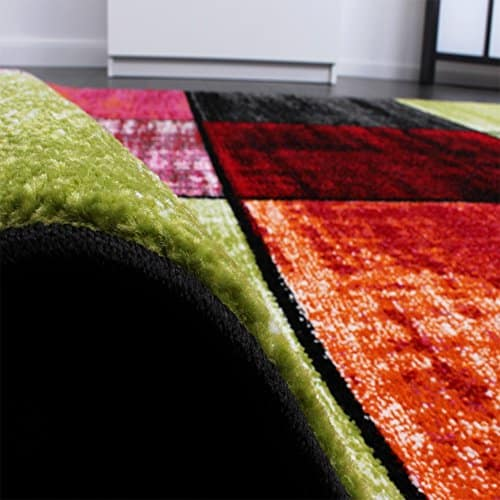 kids 39 rug squared design multicoloured mottled red. Black Bedroom Furniture Sets. Home Design Ideas