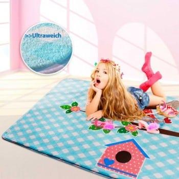 Ultraweicher-Kinderspielteppich-aus-Mikrofasern-rutschfest-Motiv-Vgel-130-x-190-cm-0