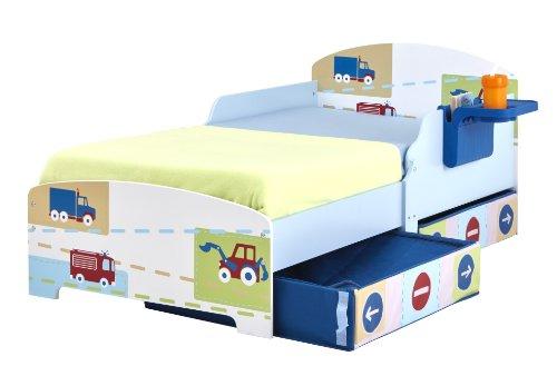 kinderbett ausziehbarem unterbett und schubladen innenr ume und m bel ideen. Black Bedroom Furniture Sets. Home Design Ideas