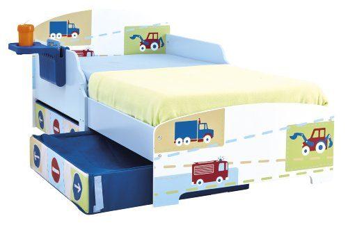 Worlds-Apart-499EEV-Kinderbett-fr-kleine-Auto-Fans-mit-Aufbewahrung-und-Nachtisch-0