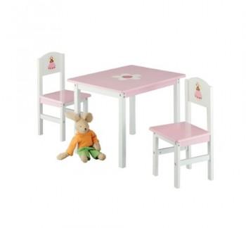 Zeller-13442-Kinder-Sitzgarnitur-Princess-3-teilig-MDF-Tisch-60-x-48-x-45-Stuhl-28-x-26-x-54-0