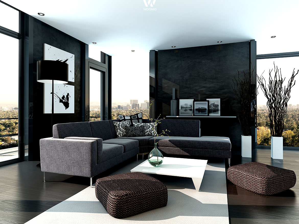 wohnzimmer einrichten graue couch. Black Bedroom Furniture Sets. Home Design Ideas
