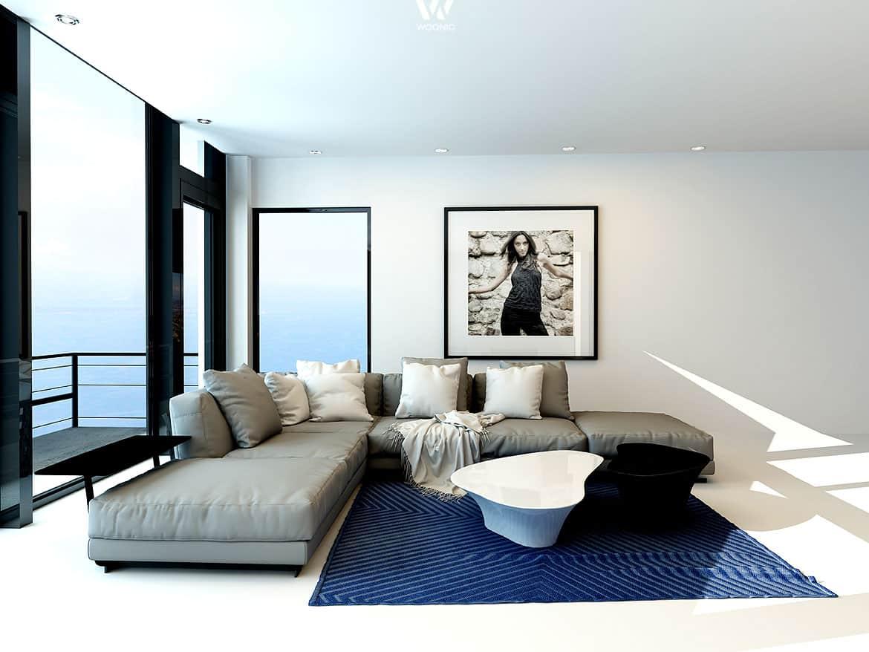 puristisch aber anziehend ist dieses wohnzimmer wohnidee by woonio. Black Bedroom Furniture Sets. Home Design Ideas