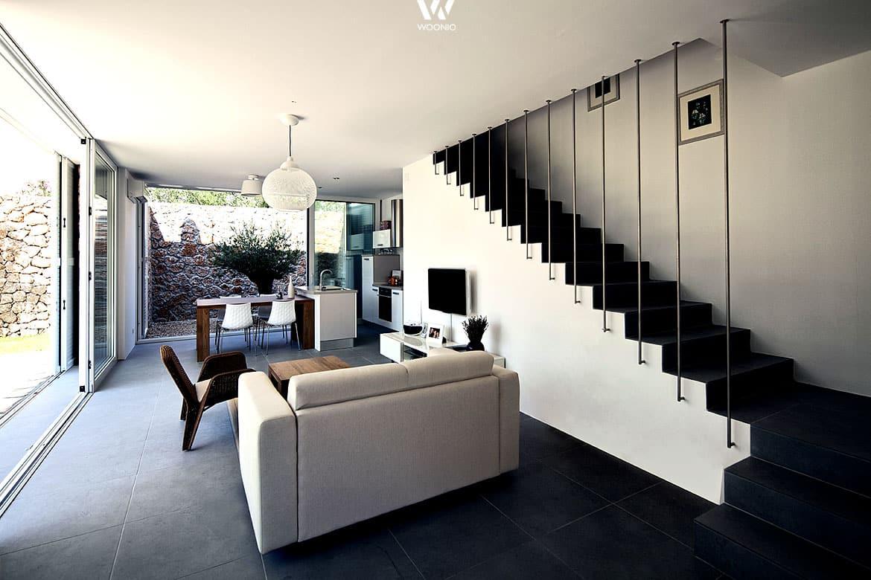 traumhafte mischung aus hellen und dunklen materialien im gesamten raum wohnidee by woonio. Black Bedroom Furniture Sets. Home Design Ideas