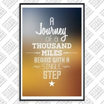 A-journey-of-a-thousand-miles-begins-with-a-step-Visual-Vitamins-Poster-Top-Qualitt-Schweres-200gqm-Glossy-Fotopapier-Motivation-und-Inspiration-914-x-61-cm-0