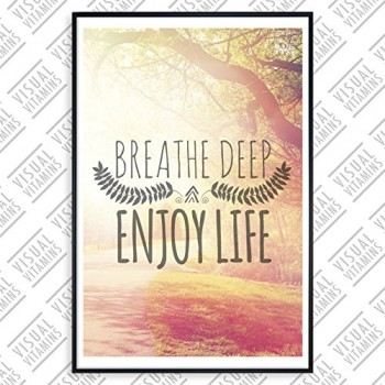 Breathe-deep-enjoy-life-Visual-Vitamins-Poster-Top-Qualitt-Schweres-200gqm-Glossy-Fotopapier-Motivation-und-Inspiration-914-x-61-cm-0