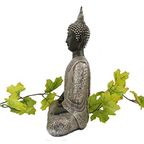 buddha statue silber dekoration wohnzimmer 30 cm online