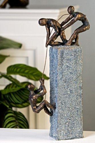 exklusive skulptur assistance aus poly in bronze dunkelgrau h he 43 cm breite 18 cm online. Black Bedroom Furniture Sets. Home Design Ideas