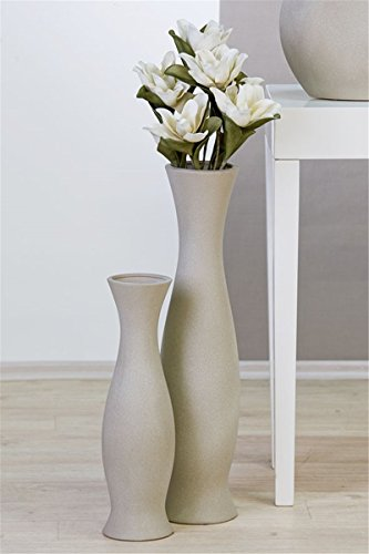 bodenvase vase grain keramik grau h 70 cm casablanca online kaufen bei woonio. Black Bedroom Furniture Sets. Home Design Ideas