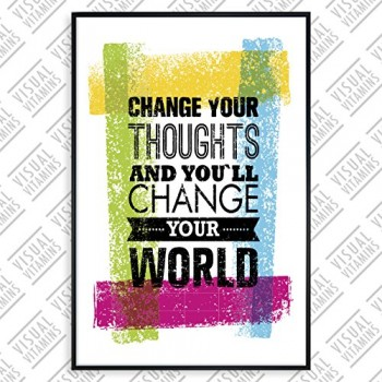 Change-your-thoughts-and-youll-change-your-world-Visual-Vitamins-Poster-Top-Qualitt-Schweres-200gqm-Glossy-Fotopapier-Motivation-und-Inspiration-914-x-61-cm-0
