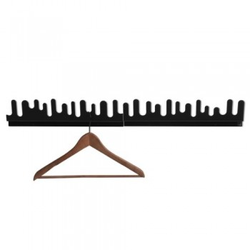 Design-House-Stockholm-Wave-Hanger-Garderobe-schwarz-2er-Set-0