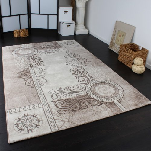 classic rug patterned glitter effect lurex beige cream sand size 200x290 cm online. Black Bedroom Furniture Sets. Home Design Ideas