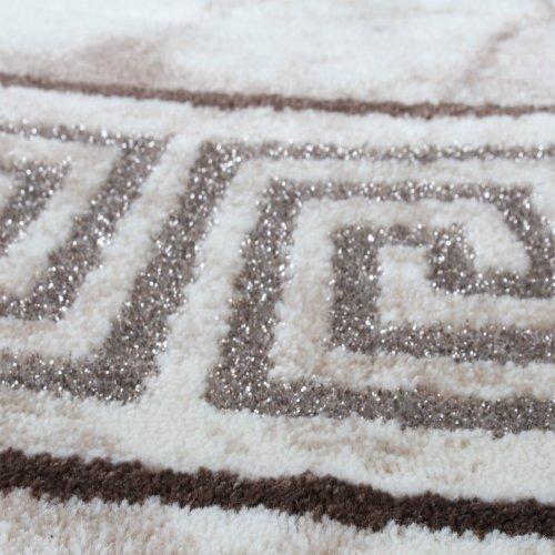 classic rug patterned glitter effect lurex sand beige cream size 200x290 cm online. Black Bedroom Furniture Sets. Home Design Ideas