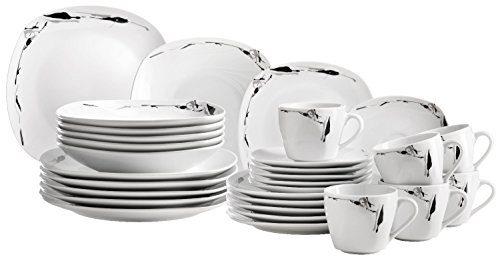 Domestic-by-Mser-Serie-Loni-Kombiservice-30-teilig-mit-je-6-Tassen-Untertassen-Desserteller-Teller-tief-und-Teller-flach-zeitloses-und-schlichtes-Porzellan-lsst-Raum-fr-Accessoires-0