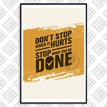 Dont-stop-when-it-hurts-stop-when-youre-done-Visual-Vitamins-Poster-Top-Qualitt-Schweres-200gqm-Glossy-Fotopapier-Motivation-und-Inspiration-914-x-61-cm-0