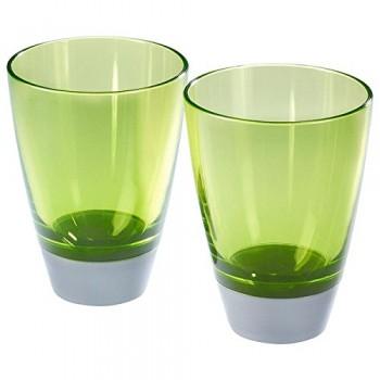 GLAS-Trinkglas-grn-2er-Set-0